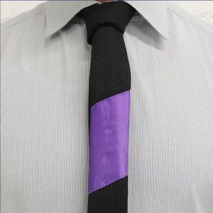 Other - Tie-Jitsu - Black Tie with Purple Belt Ranking Bar
